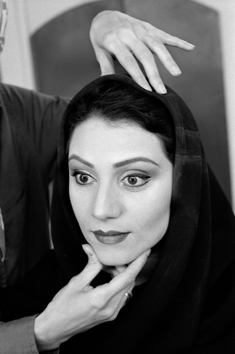 IRAN. Tehran. An actress is being made up for a play to be performed at the City Theatre.