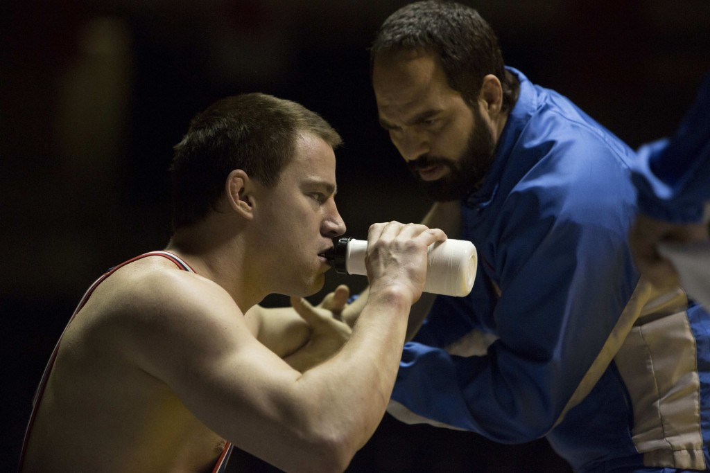 FOXCATCHER - 2014 FILM STILL - Channing Tatum as Mark Schultz and Mark Ruffalo as Dave Schultz - Photo by Scott Garfield/Sony Pictures Classics  © Fair Hill, LLC.  All rights reserved.