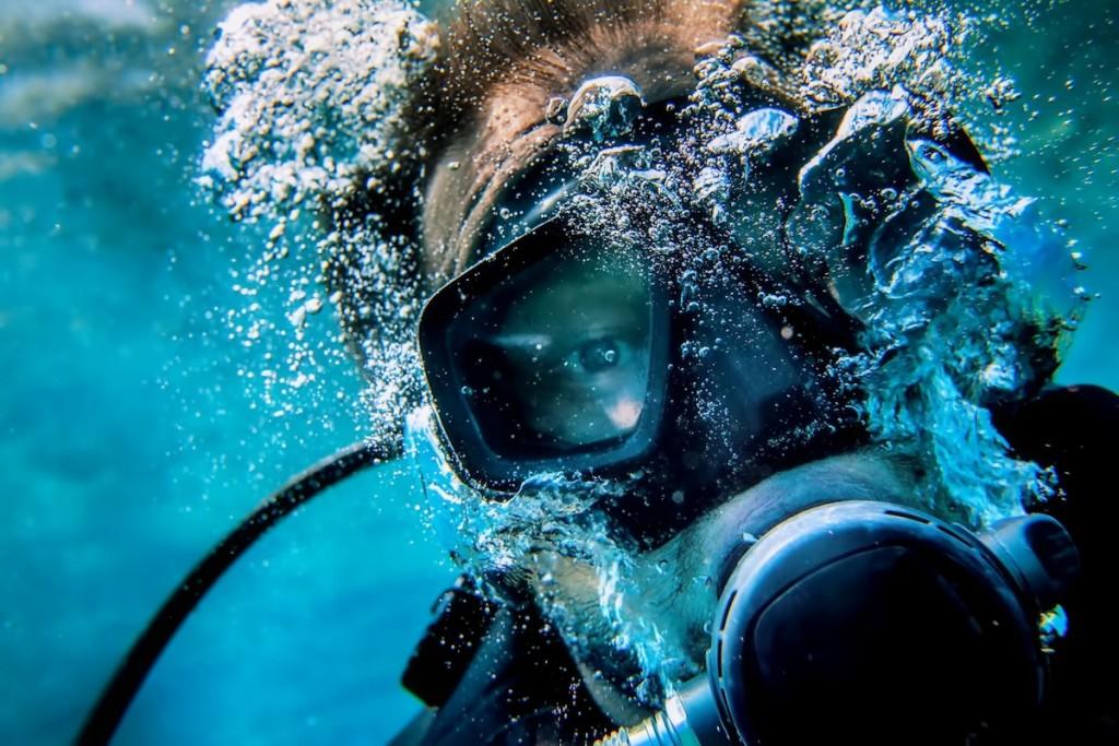 diver selfy