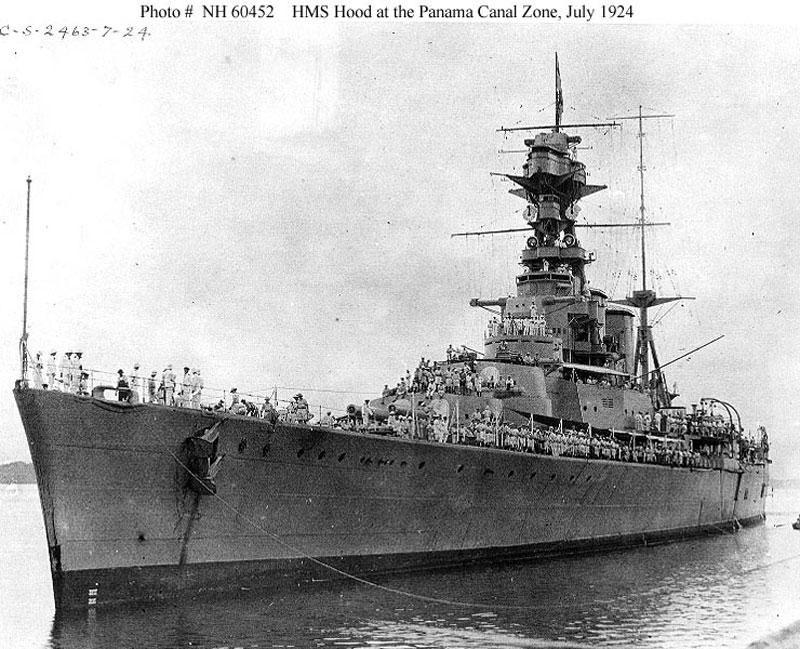 """Британският линеен крайцер """"Хъд"""""""