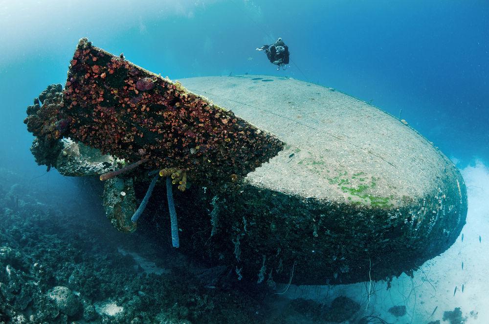 D0GXAG Ship wreck of Hilma Hooker, Bonaire, Netherland Antilles, Caribbean