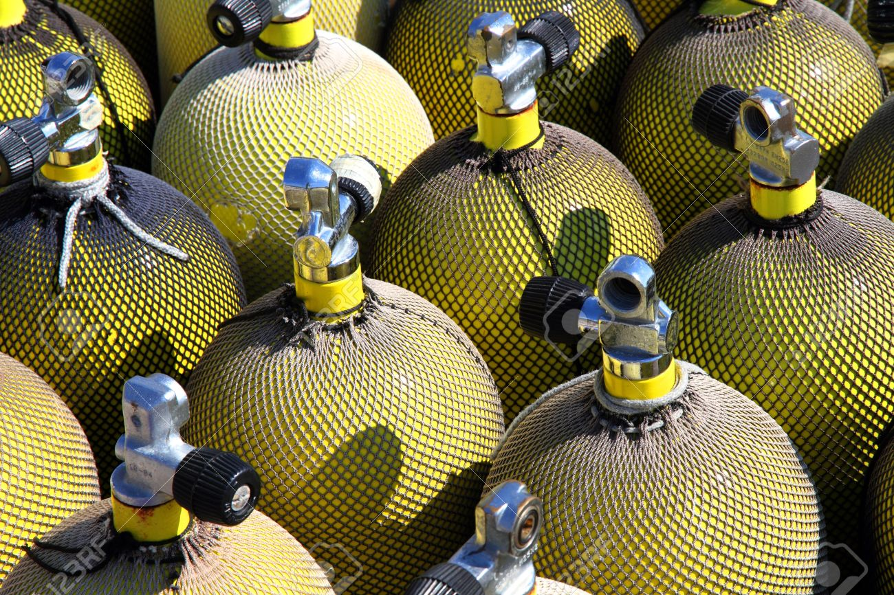 16479548-a-stack-of-nitrox-scuba-air-tanks-stock-photo