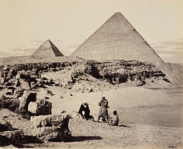 Приамидите в Гиза, Египет, 5 Март 1862